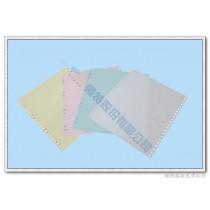 【倫特】電腦連續報表紙 9.5×11×4P‧白藍紅黃‧雙切‧全頁‧中一刀‧80行‧A4